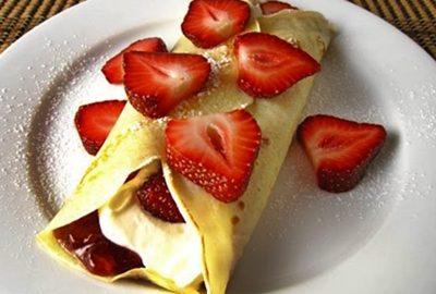 receta de crepas de fresa